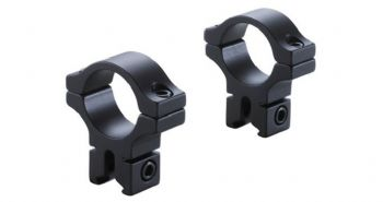 "BKL 257 3/8"" & 11mm Dovetail Rimfire Airgun Rifle Scope 1""/25mm Mount Rings - High profile"
